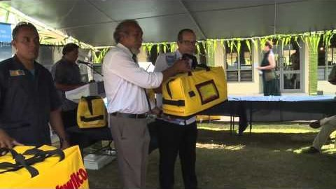 Emergency bags promote safety at sea in Niue