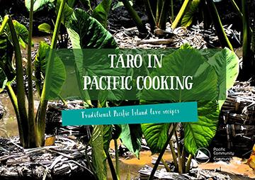 Taro in Pacific cooking booklet cover