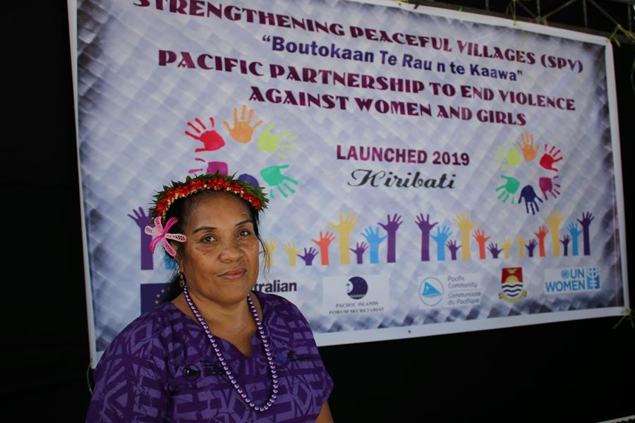 Totite Barekiau, RRRT Kiribati Country Coordinator, speaker at the Pacific Partnership launch