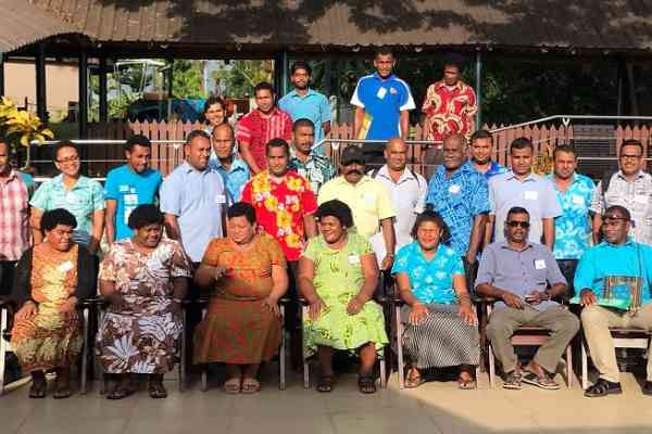 Training participants at the Financial Literacy Training for Ministry of Fisheries and aquaculture farmers in Nadi