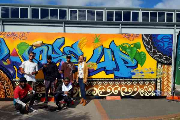Street Art to raise NCDs awareness in the Pacific - Team Vanuatu at IUHPE2019 in New Zealand