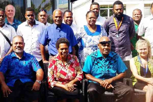 Vanuatu Police Prosecutors with Director General of the Vanuatu Ministry of Justice and Community Services, Dorosday Kenneth (front row, second left)