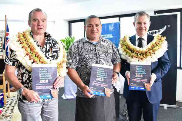 (Image: Jonathan Curr, New Zealand High Commissioner to Fiji, John Feakes, Australian High Commissioner to Fiji, Dr Tufoua Panapa, Fiji PS Education, Youth and Sports)