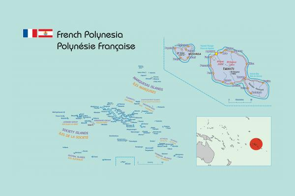 Map of French Polynesia