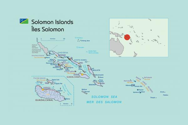 Map of the Solomon Islands