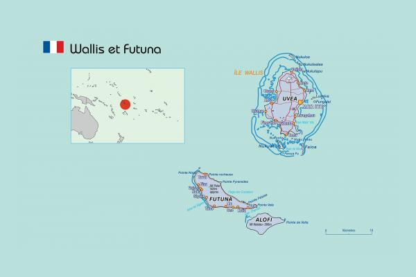 Map of Wallis and Futuna