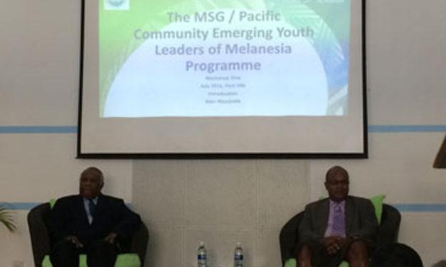 President Baldwin opens Emerging Youth Leaders of Melanesia Programme