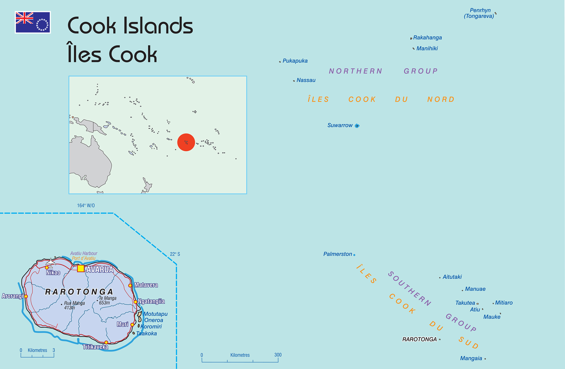 Cook Islands map © SPC 2016