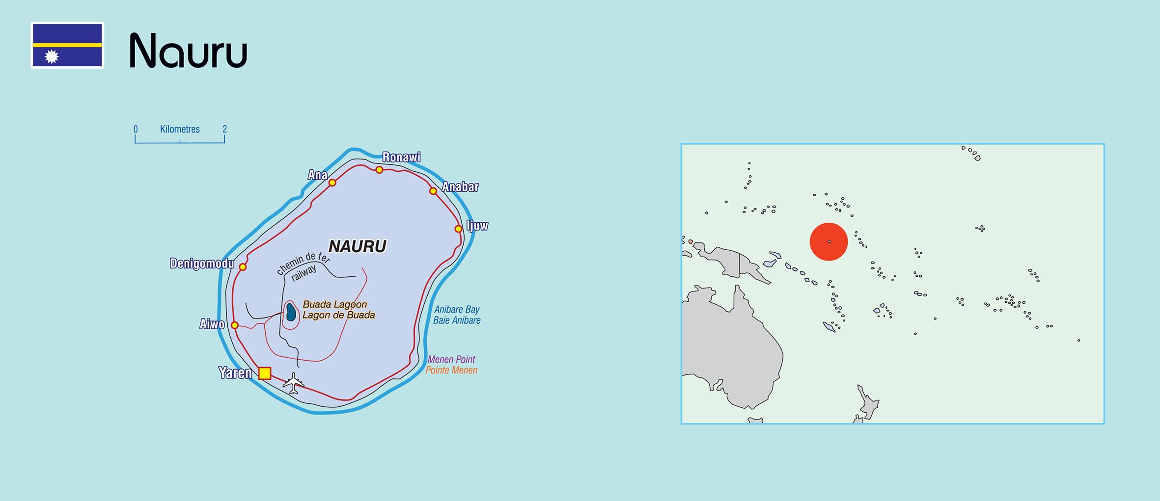 Nauru map © SPC 2016