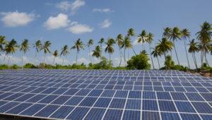 Solar panels powering Tokelau. Photo credit: J Suveinakama, Tokelau Apia Liaison Office