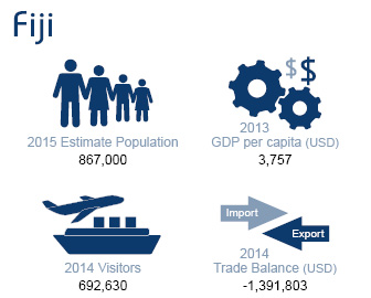 Data infographics - Fiji