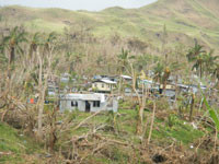 Navitilevu village after the tropical cyclone WINSTON in Ra Province, Fiji