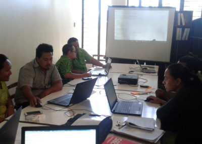 SPELL workshop on individual student reporting in Samoa